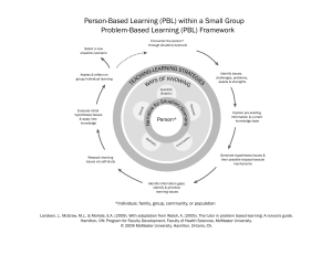 Person-Based Learning (PBL) within a Small Group Problem