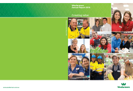 Creating value - Wesfarmers Resources