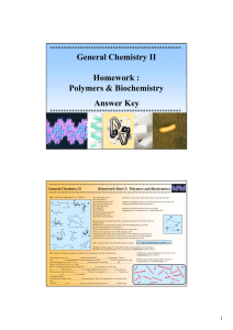 Polymers & Biochemistry Answer Key