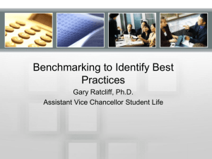 Benchmarking to Identify Best Practices