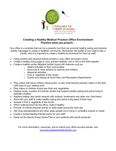 Creating a Healthy Medical Practice Office Environment Practice