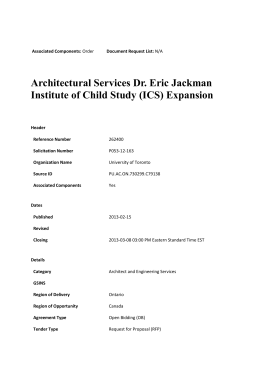 Architectural Services Dr. Eric Jackman Institute of