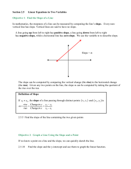 Chapter 2 The Cartesian Coordinate System, Lines and Circles