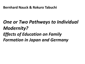 Effects of education on family formation in Japan and Germany