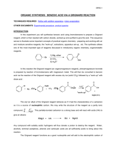 organic synthesis: benzoic acid via a grignard reaction