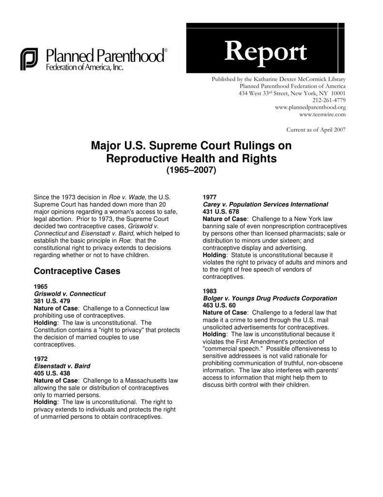 an analysis of the 1973 roe v wade supreme court case