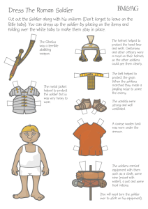 Dress The Roman Soldier