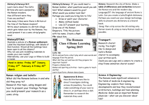 The Romans Class 4 Home Learning Spring 2015