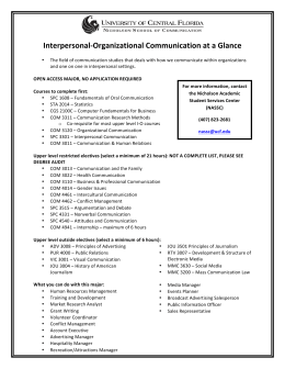 Interpersonal-‐Organizational Communication at a Glance