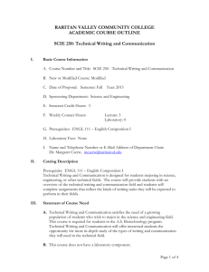Technical Writing and Communication