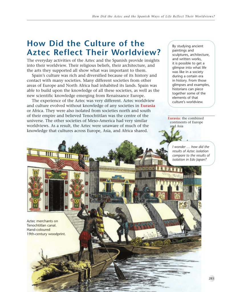 How did the culture of the aztec reflect their sciox Image collections