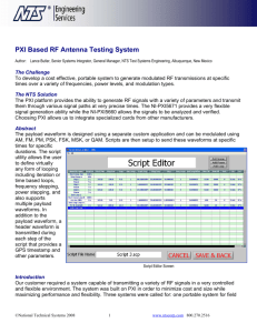PXI Based RF Antenna Testing System