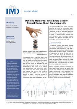 Defining Moments: What Every Leader Should Know About