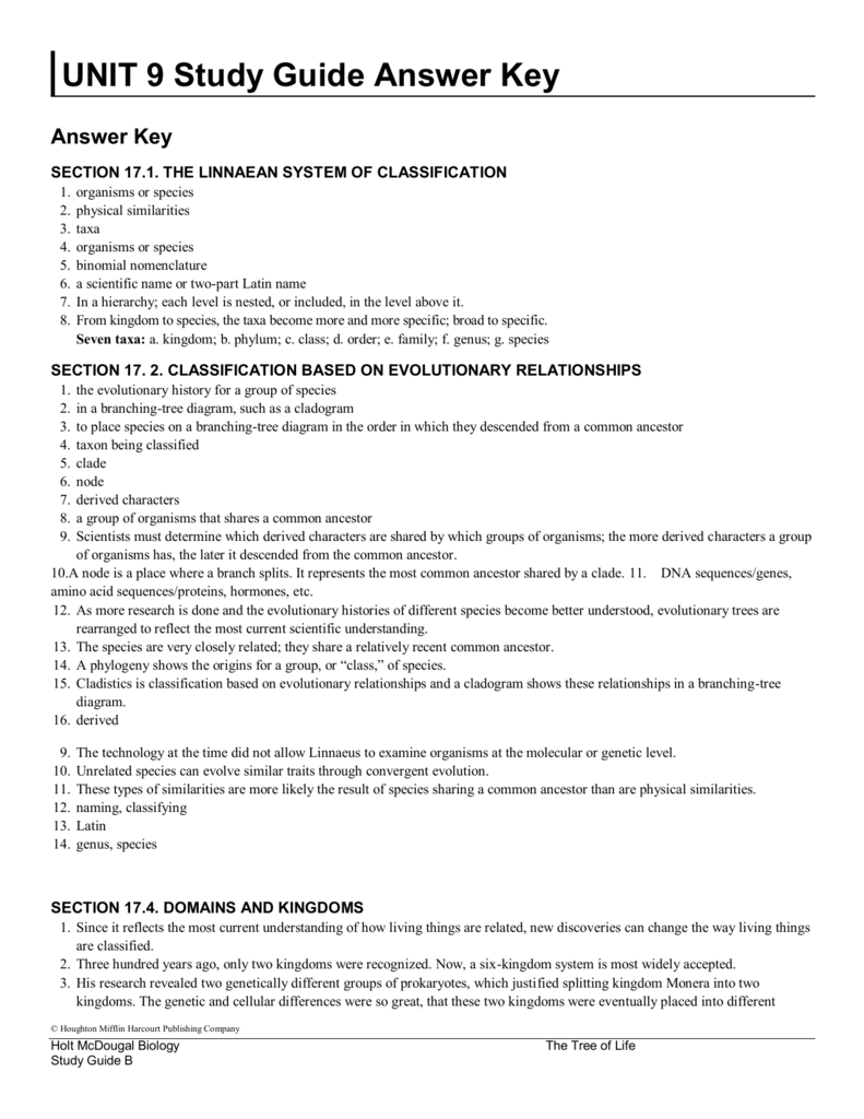 unit 9 study guide answer key rh studylib net section 1 studying viruses and prokaryotes study guide a answer key viruses and prokaryotes study guide a