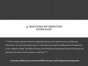 Applying to take The Bar Exam