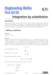 8.11 Integration by substitution