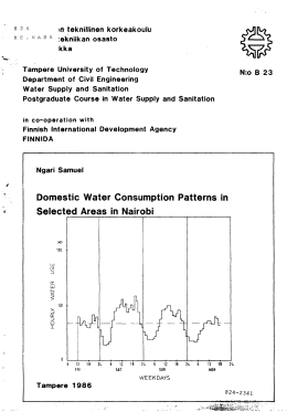 Domestic Water Consumption Patterns in Selected Areas in