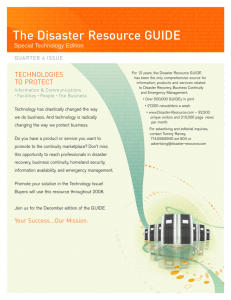The Disaster Resource GUIDE