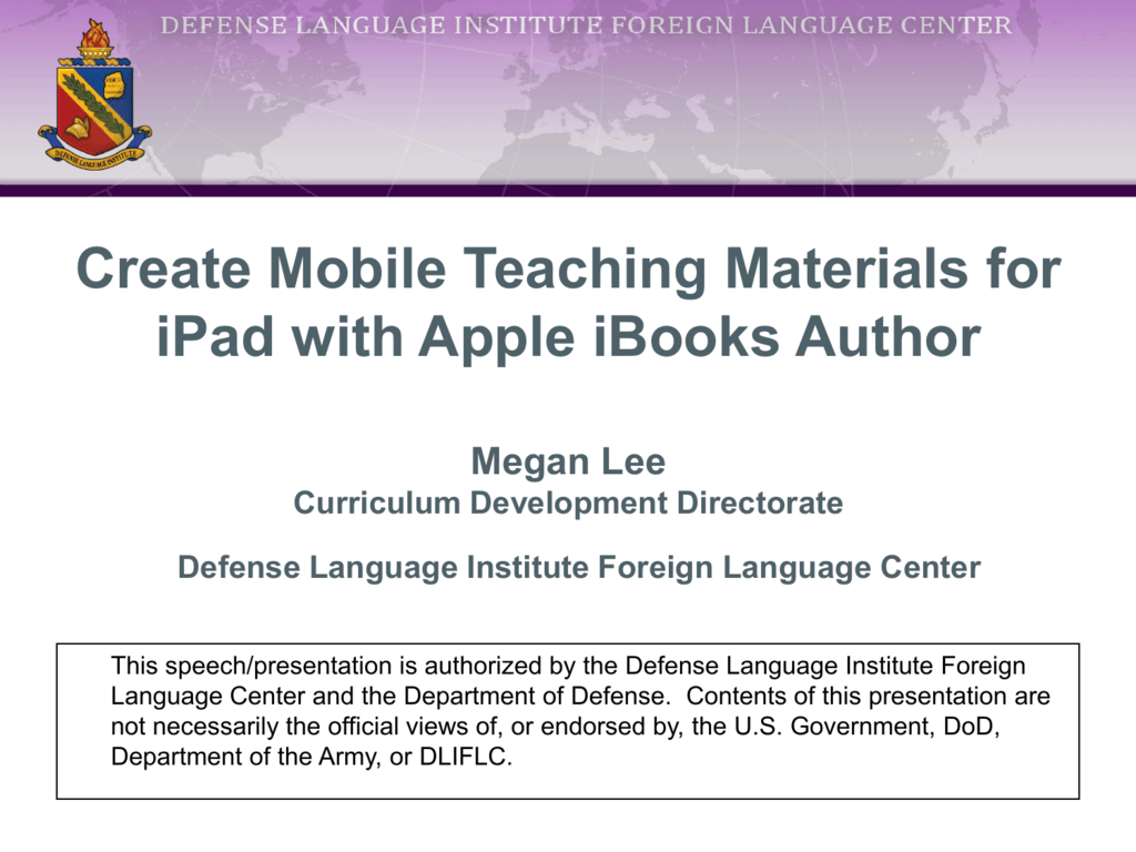 Create Mobile Teaching Materials for iPad with Apple iBooks Author