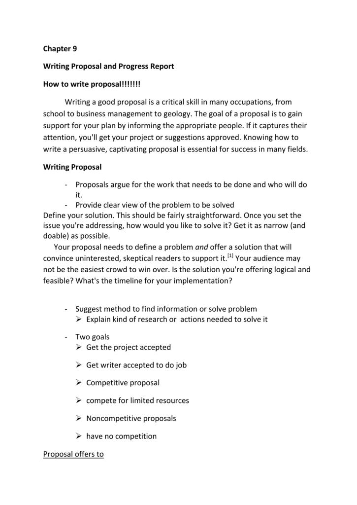 Proposal report writing