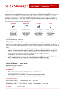 sales manager resume pdf