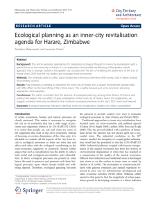Ecological planning as an inner-city revitalisation agenda for Harare