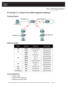 PT Activity 4.7.1: Packet Tracer Skills Integration Challenge