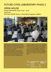 FCL Open House - Urban Studies