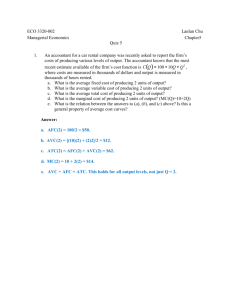 ECO 3320-002 Lanlan Chu Managerial Economics Chapter5 Quiz 5