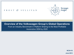 Overview of the Volkswagen Group's Global Operations