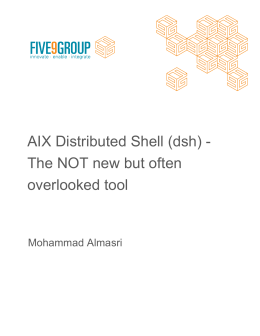 AIX Distributed Shell