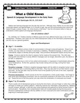 What a Child Knows - Super Duper Publications