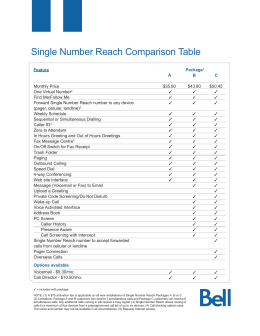 Single Number Reach Comparison Table