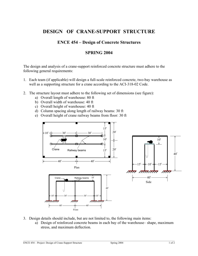 design of crane-support structure