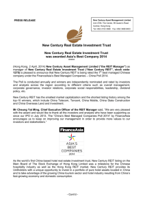 New Century Real Estate Investment Trust