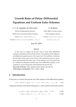 Growth Rates of Delay–Differential Equations and Uniform