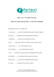 Some and Any Exercise 1 - Perfect English Grammar