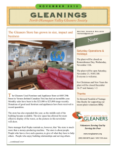 November 2015 - North Okanagan Valley Gleaners Society