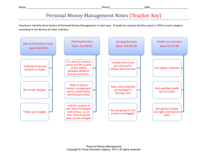 Personal Money Management Notes (Teacher Key)