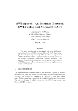 SWI-Speech: An Interface Between SWI