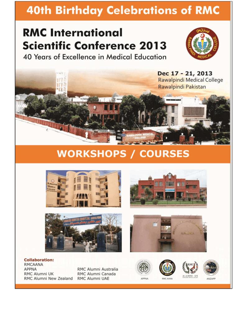 workshops / courses - Rawalpindi Medical College