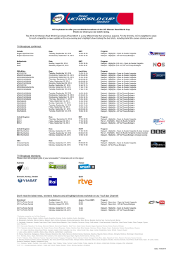 selected television networks