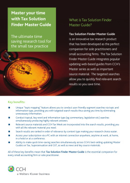 Master your time with Tax Solution Finder Master Guide