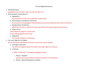 The Civil Rights Movement outline