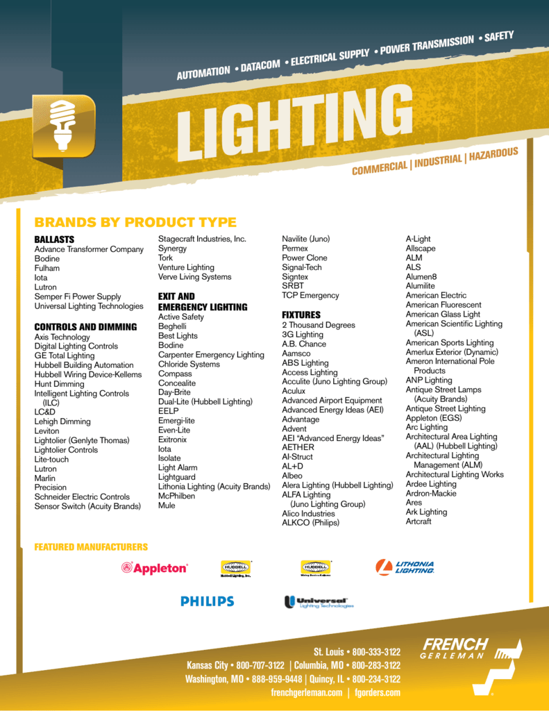 Lighting Line Card