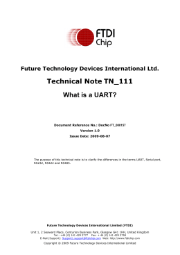 Technical Note TN_111 What is a UART?