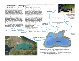 The Black Sea I: Geography