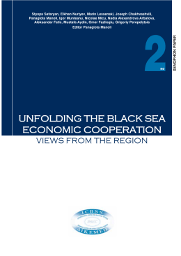 UNFOLDING THE BLACK SEA ECONOMIC COOPERATION
