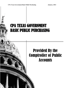 Texas Basic Public Purchasing - Texas Comptroller of Public Accounts