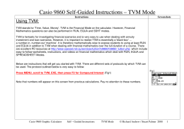 Casio 9860 Self-Guided Instructions – TVM Mode